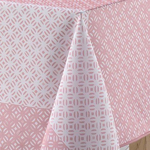 charme & douceur nappe rectangle 150x240cm lucie rose