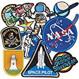 Patch Sticker, MUSCCCM 10Pcs Parches Aeroespacial Termoadhesivos DIY Coser o...