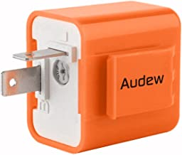 AUDEW 2-Pin Electronic Turn Signal Flasher Relay Fix Motorcycle Turn Signal Hyper Flash