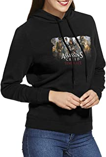 ALWAYSUV Womens Pullover Hoodie Assassin's Creed Syndicate Printing Casual Pullover Sweatshirt