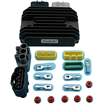Alternators Generators Rectifier for John Deere XUV620I XUV625I TIKSCIENCE Voltage Regulator Rectifier Black Replace MIU14344