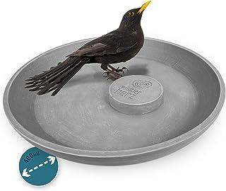 wildtier herz I Bain pour Oiseaux Sauvages Ø 40cm I Abreuvoir, Bassin d'eau I Salle de Bain pour Animaux Sauvages de Jardin