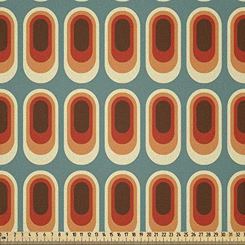 ABAKUHAUS Retro Tela por Metro, Moda Vintage Etno, Microfibra Decorativa para Artes y Manualidades, 1M (230x100cm), Multicolor