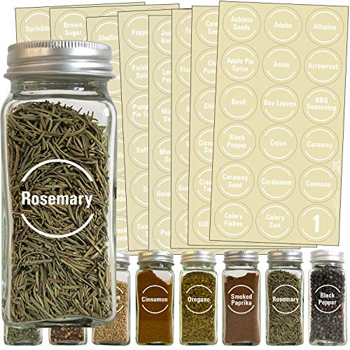 Talented Kitchen 144 White Spice Label and Pantry Label Set:...