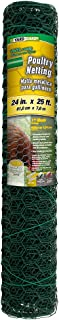 YARDGARD 308452B Poultry Netting Fence 24 Inch x 25 Foot, Green, Height Length-25 Ft, Color
