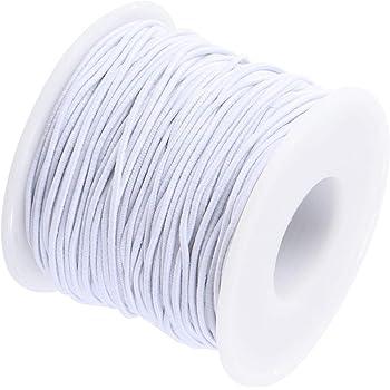 2x25m Gummiband elastisches Nähgarn Smokgummi Gummi Band Faden schwarz Nähen