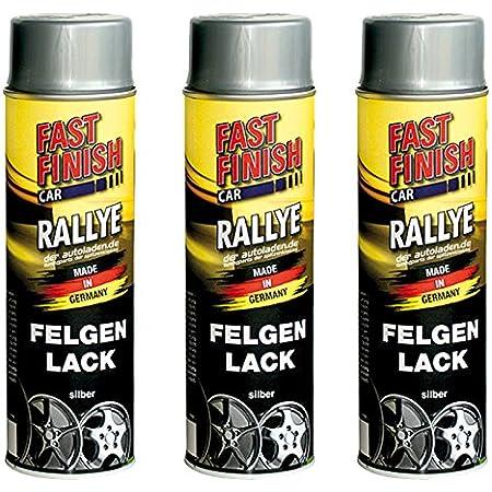 3x 500 Ml Fast Finish Rallye Felgenlack Felgenfarbe Silber Spraydose 292842 Auto