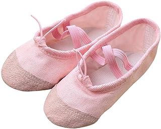 f92abb6716723 Ouneed® Fille Chaussons de Danse Classique en Canvas Demi Pointes Ballerine  Chaussure de Ballet