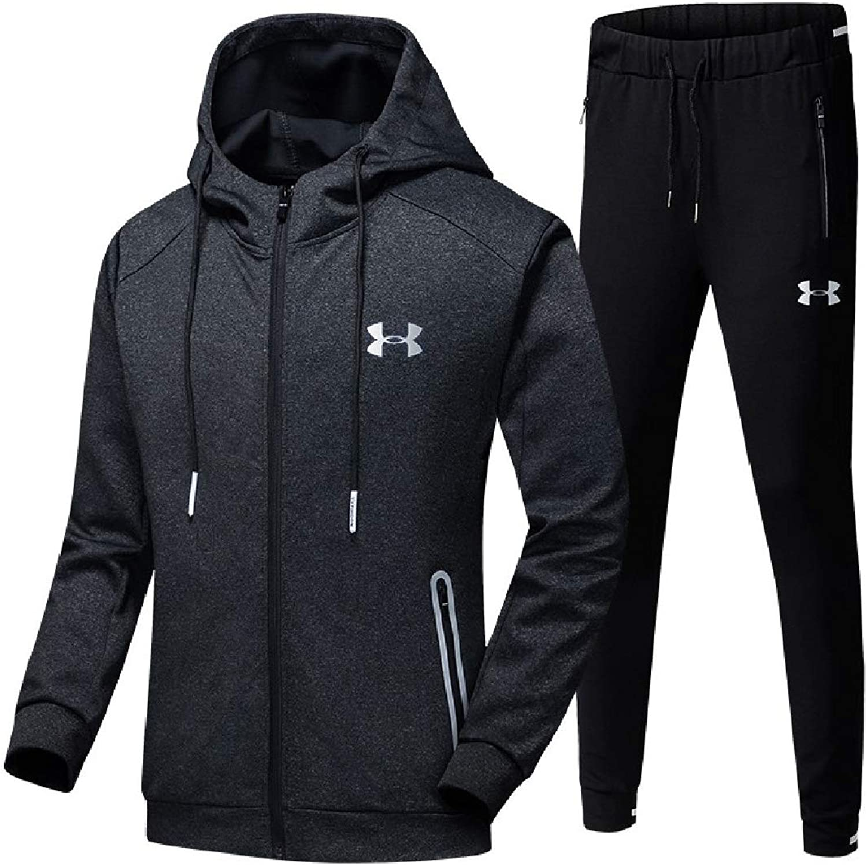 Freely Men's Pockets Hoodie ZipFront Skinny Lounge Oversized Sweatsuit