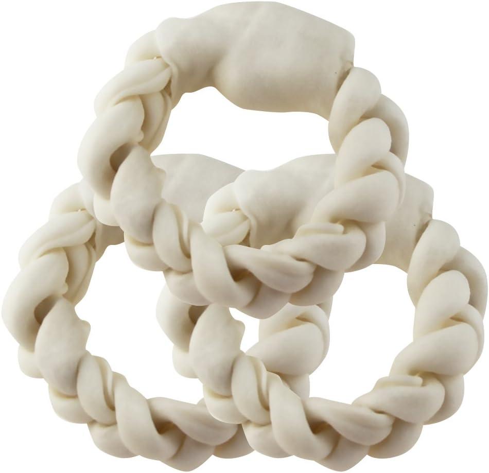 BBDOGO Dog Rawhide Bones Braided Treat for Ranking TOP6 Pets Ranking TOP2 Chew Bon