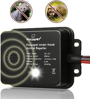 Focuspet Repelente Ultrasonico de Ratas Coche, 12V Bateria
