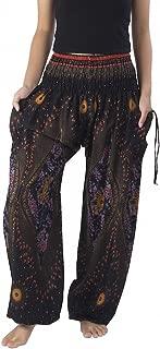 Women's Smocked Waist Boho Flowy Yoga Harem Pants