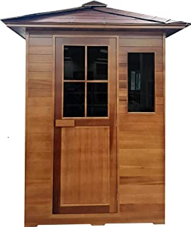Canadian Red Cedar 3 Person Outdoor Backyard Sauna, FIR Far Infrared SPA