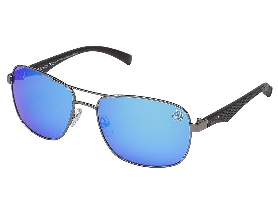 Timberland TB9136 Polarized (Matte Gunmetal/Brown Polarized) Fashion Sunglasses