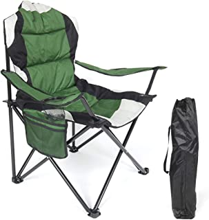 AOTOMIO Folding Camping Chair Portable Outdoor Fishing Beach Chair with Cup Holder for Hunting and Hiking, Supports 280LBS.