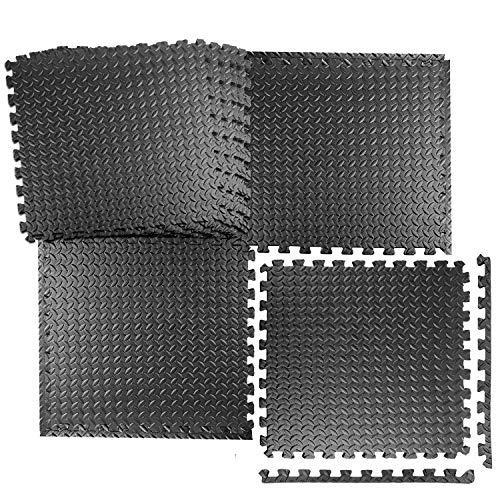 Schutzmatten Set 20 Stück, Swonuk 30x30x0.95cm Fitnessmatten Bodenschutzmatten für den Bodenschutz gegen Stöße, Dellen, Flüssigkeiten, Kälte zum Einsatz im Sportraum, Fitnessraum, Schwimmbadmatte