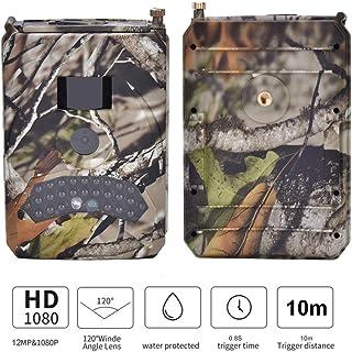 Cámara de 12MP 1080P Trail juego de visión nocturna por infrarrojos Cámara de video de caza con sensor de imagen de 3MP tiempo de activación de 0.8s Cámara de vida silvestre activada por movimiento