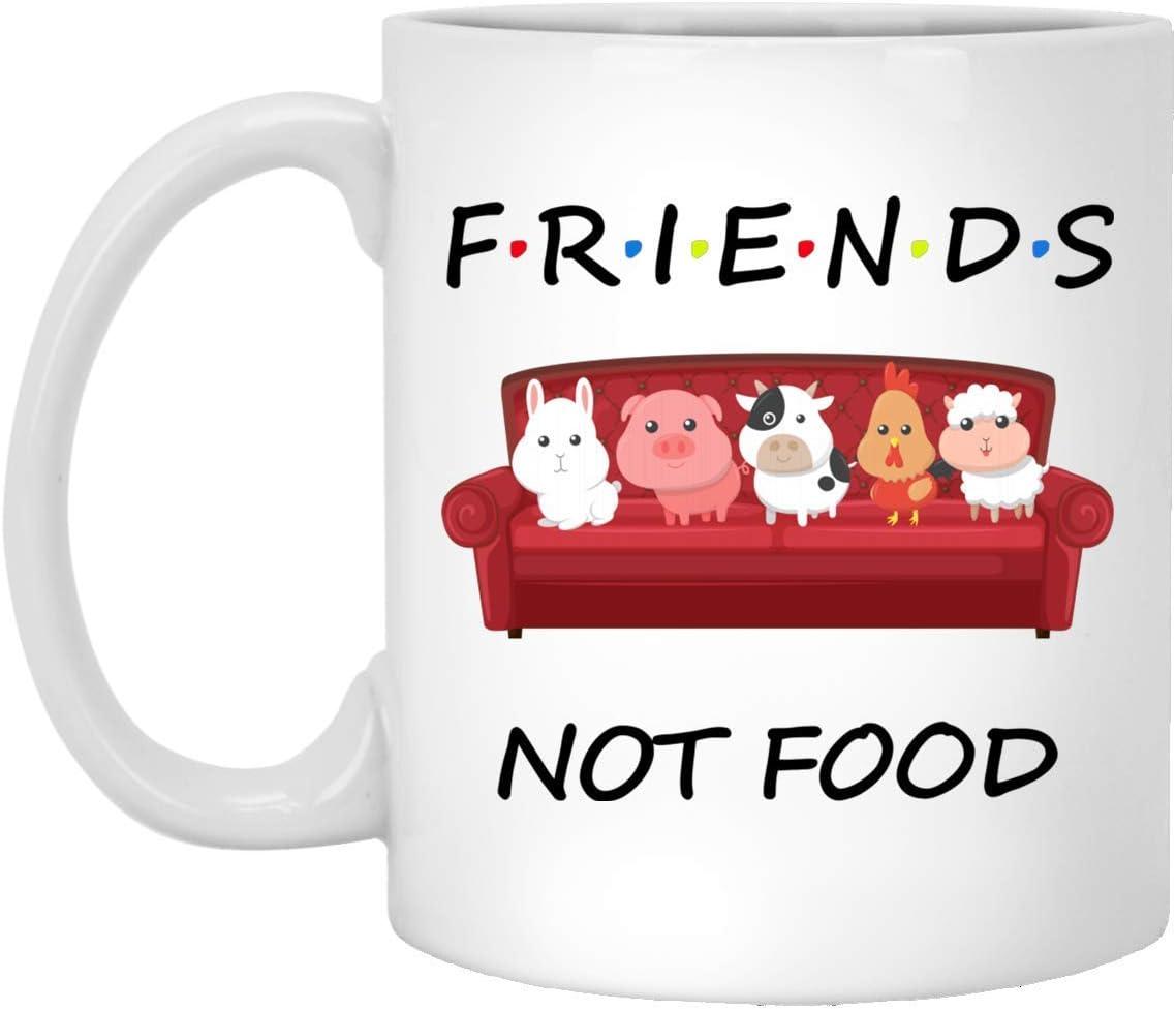 Vuvuzi Tee - FRIEND TV SHOWS - FRIENDS NOT FOOD 11 oz. White Mug
