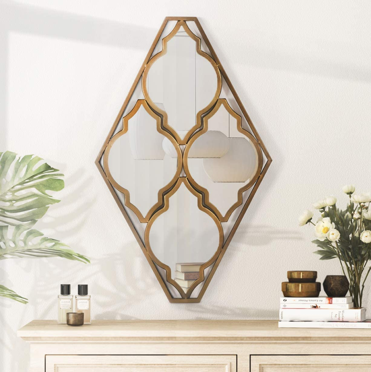 Decorative Bronze Gold Wall Mounted Accent H Mail order 29.7'' 18 x Max 80% OFF Mirrors