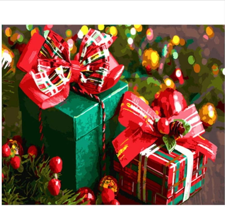 CZYYOU Bild DIY Malen Nach Zahlen Weihnachten Home Decor Für Wohnzimmer Hand Einzigartige Geschenke 40x50cm-Ohne Rahmen B07PQQRNKH | Treten Sie ein in die Welt der Spielzeuge und finden Sie eine Quelle des Glücks