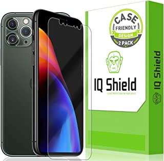 IQ Shield Screen Protector Compatible with Apple iPhone 11 Pro Max (6.5 inch)(2-Pack)(Case Friendly + Camera Lens) Anti-Bu...