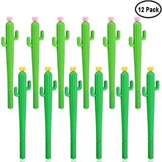 Cactus Shaped Rollerball Pen Cute Creative 0.5 mm Black Ink Gel Pens For Student and Office 12 Pieces by Meiso