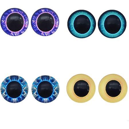 Gegenst/ück Puppenaugen Teddyaugen Amigurumi Farbwahl 5 Paar Glitzer-Augen XL 30mm m Farbe:gold