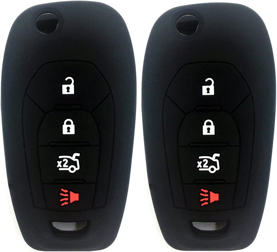 Ezzy Auto Pack 2 Black Silicone Key Rubber Covers K Limited time trial price Case Ranking TOP1 Fob