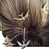 Cuhair 4pcs NEUF Charms vintage Doré hirondelle Pique à cheveux Pince à cheveux barrette à broches Accessoires pour mariage