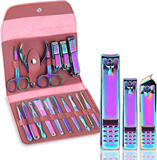 Sponsored Ad - Manicure Set Nail Clippers Set Manicure Pedicure Gift Set, 16-in-1 Professional Stainless Steel Toenail Cli...
