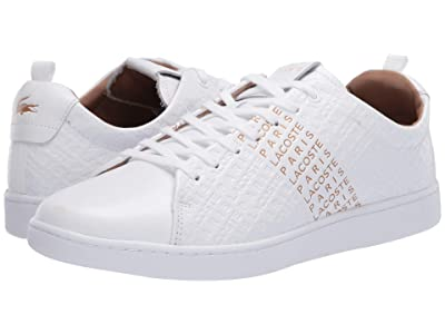 Lacoste Carnaby Evo 120 6 US (White/Gold) Men