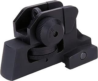 GOTICAL Rear Sight Tactical Aluminum Picatinny/Weaver Complete Match-Grade Heavy Duty Sight