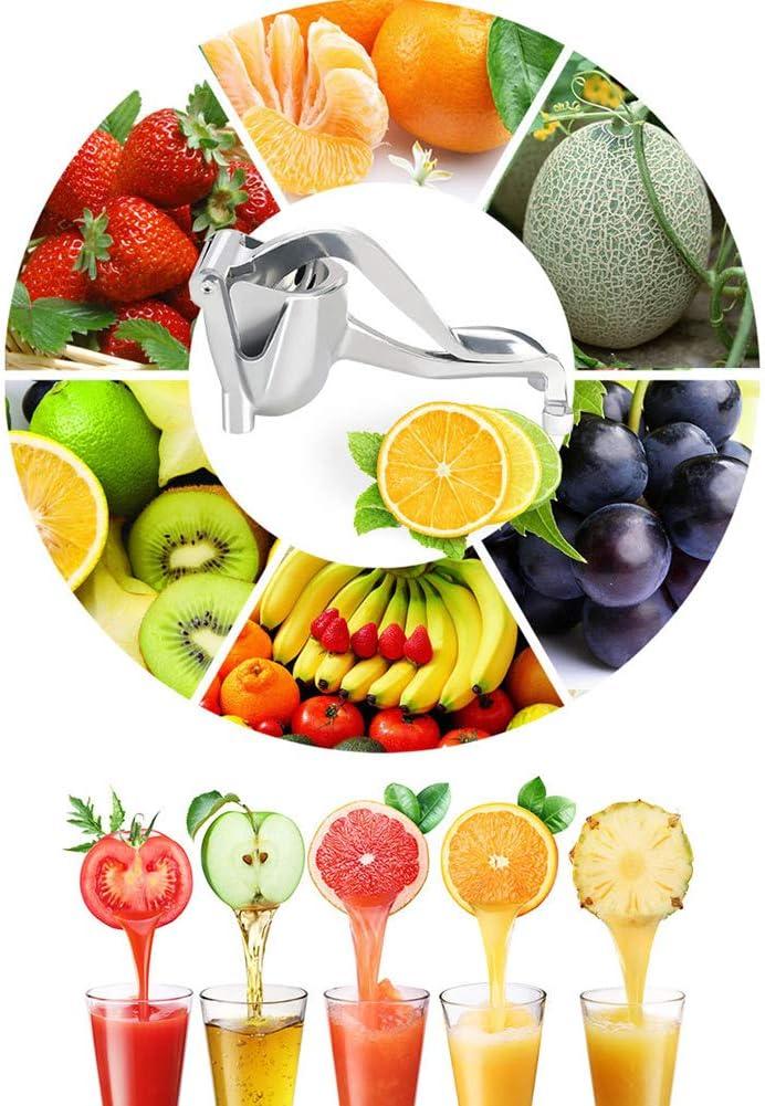 Licuadora Manual, Manual De Fruta del Acero Inoxidable Exprimidor De Fruta Portátil Prensa Extractor Tool Limón Naranja Exprimidor De Fruta Mano Exprimidor Exprimidor,Blanco White