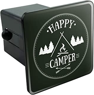 Graphics and More Happy Camper with Campfire Tow Trailer Hitch Cover Plug Insert 2