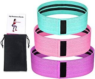 Romica Fitness Resistance Bands Anti-Slip Exercise Bands With 3 Different Level Resistance for Home Fitness Pilates Yoga (...