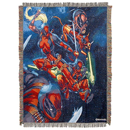 Marvel's Deadpool 2, 'Dead Space' Woven Tapestry Throw Blanket, 48' x 60', Multi Color