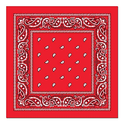 12 Pack Katoen Bandanas Unisex Print Hoofd Sjaal Cowboy Bandana Hoofdbanden Vierkante Zakdoek voor Mannen Vrouwen