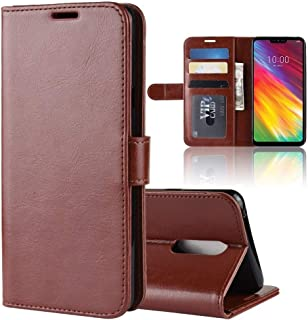 Mobile phone case R64 Texture Horizontal Flip Leather Case For LG G7 Fit, With Holder & Card Slots & Wallet (Color : Brown)