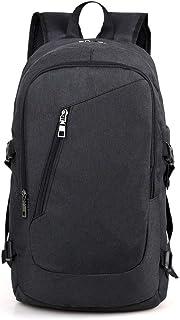 81a955e525 Attualmente non disponibile. Fashion Man - Zaino con ricarica USB per  computer portatile, grande borsa da viaggio Nero