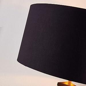 Lampenwelt Dreibein Stehlampe 'Benik' (Modern) in Schwarz aus Textil u.a. für Wohnzimmer & Esszimmer (1 flammig, E27, A++) - Stehleuchte, Floor Lamp, Standleuchte, Wohnzimmerlampe, Tripod
