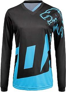 Women Mountain Bike Jersey Long Sleeve Off-Road Motocycle Shirt Breathable Moisture-Wicking