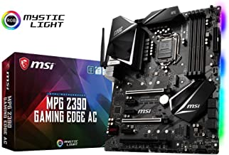 MSI MPG Z390 GAMING EDGE AC - Placa base Performance (LGA 1151, Twin Turbo M.2, Mystic Light RGB LED, 3 x PCI-E x16, Core Boost, 3 x USB 3.1 Gen2, Wireless-AC 9462, Audio Boost 4)