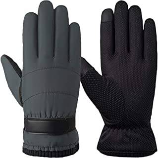 T WILKER Winter Thinsulate Windproof Ski Gloves for Men&Women Touchscreen