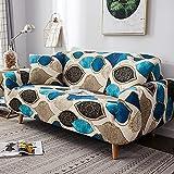 MKQB Funda de sofá con Estampado Floral geométrico, Funda de sofá elástica y elástica, Funda de sofá en Forma de L para decoración del hogar, Sala de Estar, Funda de Almohada n. ° 6