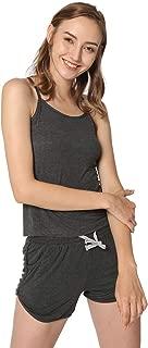 5dù daily underwear Women's Short Pajama Sets Scoop Neck Sleeveless Sleepwear Pjs Set