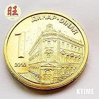 記念コインの絶妙なコレクション 2013セルビア1ディナールハード。 20mm。収集品は です。絶版の忠実度