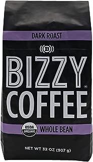 Bizzy Organic Coffee | Dark Roast | Whole Bean | 2 lbs
