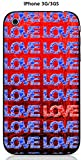Onozo Coque Apple iPhone 3G / 3GS Design Loves Bleus & Un Love Rouge