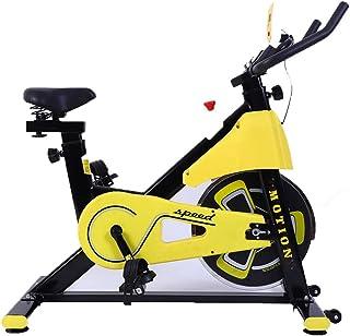 AWSAD Exercise Bike Indoor Studio Cycles Aerobic Training Fitness Silent Flywheel, Adjustable Resistance, Shock Absorbing ...
