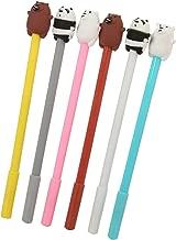 WIN-MARKET Gel Pens Set Fashion Cute Colorful Kawaii Lovely Colorful Animal Polar Bear Brown Bear Panda Gel Ball Pens Office School Supply Stationery pen(6PCS)